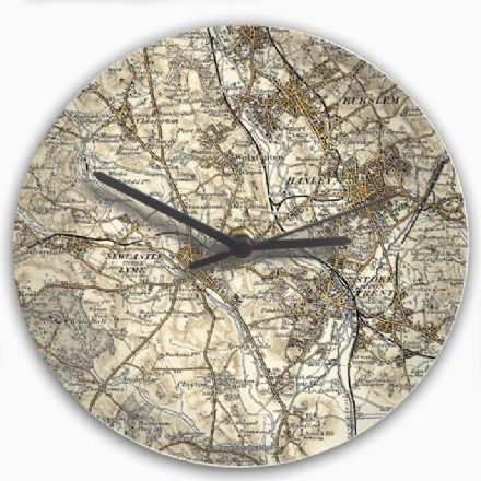 Personalised 1896 - 1904 Revised New Map Clock